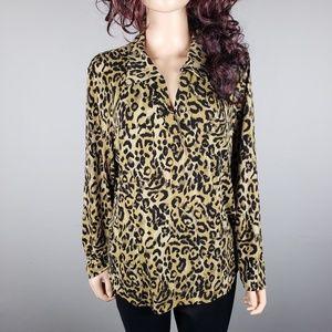 ✿❀ INC Leopard Print Stretch Blouse ❀✿